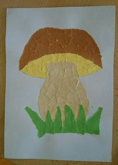 Autumn Crafts, Thanksgiving Crafts, Diy And Crafts, Crafts For Kids, Arts And Crafts, Diy Paper, Paper Crafts, Mushroom Crafts, Leaf Art