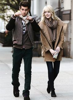 Emma Stone & Andrew Garfield - Out & About in Tribeca,NYC [April Emma Stone, Andrew Garfield, Hollywood Couples, Celebrity Couples, Pretty People, Beautiful People, Perfect People, Celebrity Crush, Celebrity Style
