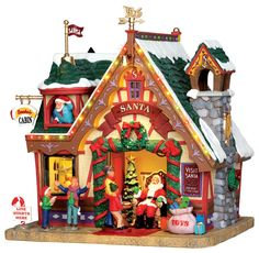 Santa's Cabin 2013 Lemax Collection Exterior Lighted House by Lemax Collections