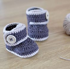 Crochet Baby Booties by Croby Patterns