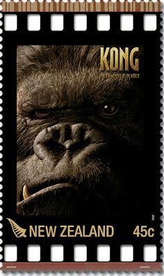 Just back from NY. Didn't see Kong, so here he is on a stamp.