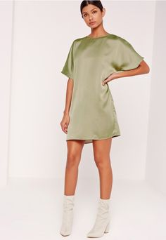 elevate your look in luxe satin and get set to look like a f*cking dream. this green dress will take you from day to play and everything in between.
