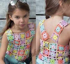 Crochet Baby, Knit Crochet, Crochet Tops, Crochet World, I Love Fashion, Woman Fashion, Little Princess, Baby Dress, Needlework
