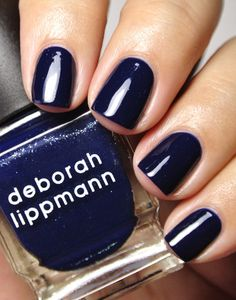Deborah Lippmann ROLLING IN THE DEEP mysterious midnight blue #ShowofHands
