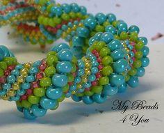 Spiral Peyote bracelet