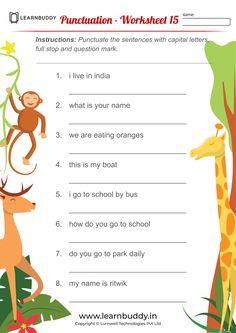2nd Grade Reading Worksheets, Worksheets For Class 1, Punctuation Worksheets, Homeschool Worksheets, Sight Word Worksheets, Therapy Worksheets, Nouns Worksheet, Number Worksheets, Blends Worksheets