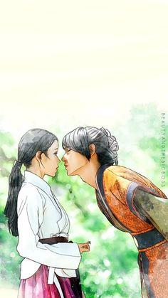 Moon lovers: Scarlet Heart Ryeo 4th Prince Wang So (Lee Joon Gi) and Hae Soo (IU / Lee Ji - eun)