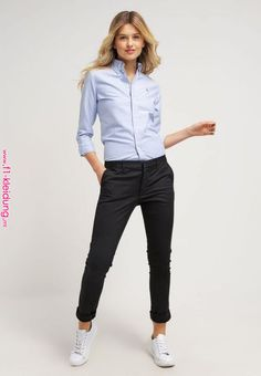 Summer Fashion Outfits, Ideas & Inspiration Polo Ralph Lauren - HARPER - Chemisier - blue - Go to Source - Casual Work Outfits, Business Casual Outfits, Office Outfits, Mode Outfits, Work Casual, Business Fashion, Casual Chic, Office Attire, Sporty Chic