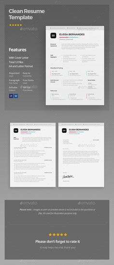Clean Resume Template PSD. Download here: http://graphicriver.net/item/clean-resume-template/16428488?ref=ksioks