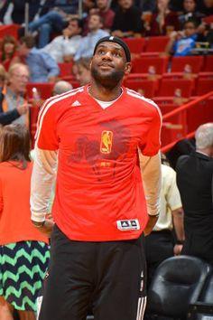 LeBron James in NBA 2014 Chinese New Year Shooting Shirt