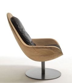 Wooden Armchair Creus by Riva