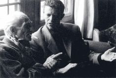 Balthus and David Bowie, 1994. Photo: Jean-Francois Schlemmer.