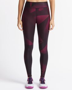 Shop online for Hyba Printed Fast Track Legging. Find Bottoms, Hyba Activewear, Sale and more at Reitmans Gym Gear, Stay In Shape, Sport, Women's Leggings, Active Wear, Fitness Motivation, Burgundy, Workout Outfits, Geo
