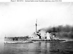 SMS Seydlitz, probably the most distinguished of Germany's WW1 battlecruisers: she was heavily damaged at Dogger Bank in 1915 and at Jutland the following year.