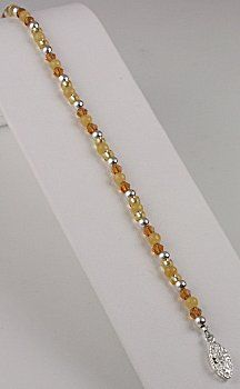 IDEA: Topaz Honey Ankle Bracelet (eebeads.com)