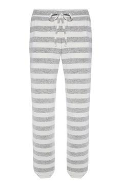 Grijs gestreepte pyjamabroek met boorden