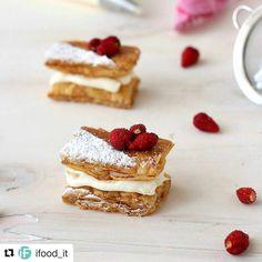 """#Repost @ifood_it with @repostapp  Per #gustosenzaglutine con i prodotti #schar un boccone di dolcezza... Per tutti!  cerca """"Millefoglie mignon con fragoline di bosco""""  #ifoodit #ifoodlovers #neapolitan #millefoglie #dessert #singluten #glutenfree #glutenfrei #dolcidasogno #dolcivisioni #dolcifattiincasa #dolcino #homecooking #homemade #picoftheday #pic"""