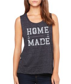 Home Made Michigan Ladies Tri-blend muscle tank top