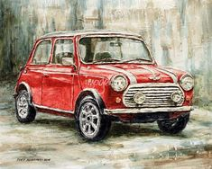 """""""Mini Cooper S """" by Joey Agbayani: The Mini Classic Cooper S 2000. // Buy prints, posters, canvas and framed wall art directly from thousands of independent working artists at Imagekind.com."""