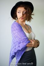 'Lacy Lavender Knitted Triangle Shawl' on Expression Fiber Arts, Inc. website! Gorgeous!