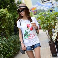 2014 women 2014New The summer show thin female loose code lady printed t-shirts