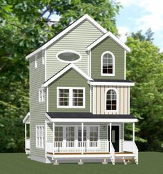 20x20 Tiny House -- #20X20H9A -- 1,108 sq ft - Excellent Floor Plans
