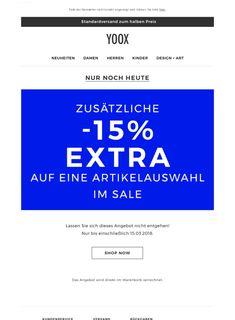 ⌛️ Zusätzliche -15% EXTRA auf Sale-Artikel: Jetzt aber schnell, nur noch heute!