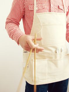 Utility Apron from New Domestic. Fourteen pockets! Perfect for studio, especially the dye lab. $36