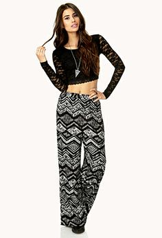 World Traveler Wide-Leg Pants | FOREVER21 - 2000110163