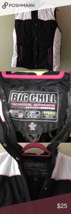 Big Chill Technical Outerwear Ski Vest S L 14/16 Big Chill Technical Outerwear Ski Vest S L 14/16 With Removable Hood Big Chill Jackets & Coats
