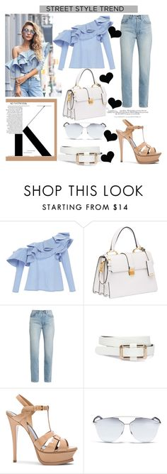 """""""Street Style in Johanna Ortiz.."""" by nfabjoy ❤ liked on Polyvore featuring Johanna Ortiz, Miu Miu, Yves Saint Laurent, Christian Dior and H&M"""