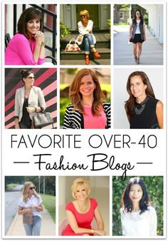 Great over 40 fashion blogs to follow! #fashion #over40 #style