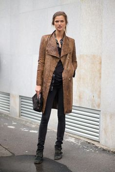 amazing coat.  pairing with jeans and boots is also great.