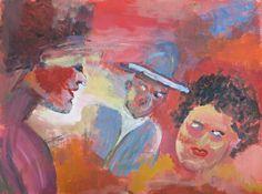 Het eerste waar ik bij deze afbeelding aan moet denken is pijn de vrouw op de fout straalt pijn - Kleur schilderij gang ...