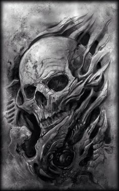 Creepy Skull Art