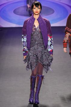 Fall 2014 Ready-to-Wear - Anna Sui - I bet the dress under there is gorgeous!
