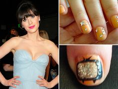 ZOOEY'S EMMY MANI!!! Nails by Tom Bachik for Cloutier Remix