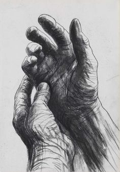 blue-voids: Henry Moore - The Artists Hands (verso), circa 1974