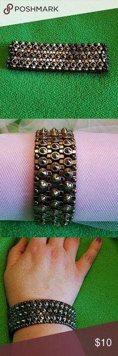 Selling this Torrid gunmetal spike bracelet on Poshmark! My username is: quailieskids. #shopmycloset #poshmark #fashion #shopping #style #forsale #torrid #Jewelry