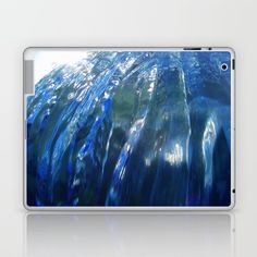 Message from the sea 21 / Wall of an approaching wave Laptop & iPad Skin