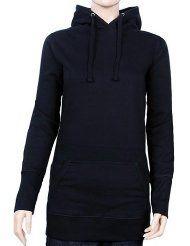 e919540f3a Long Hoodie - Sweatshirt mit Kapuze Damen diverse Farben Gr.XS S M L