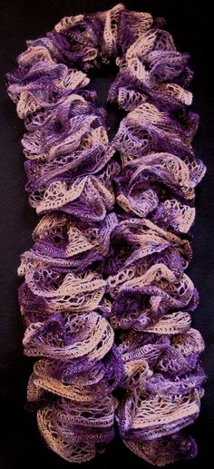Knit Lacey Feminine Scarf by GMasBoutique on Etsy, $11.00