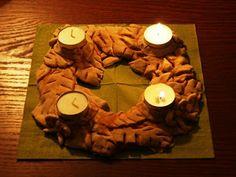 Adventný veniec zo slaného cesta / Salt dough advent wreath