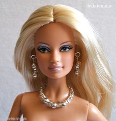 "* PLATINUM * - jewelry set for 11""-12"" fashion dolls. on eBay: $4.99 - by DOLLS4EMMA"