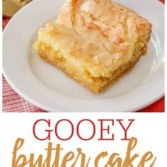 Chewy Cake Recipe, Delicious Cake Recipes, Easy Cake Recipes, Yummy Cakes, Yummy Food, Chewies Recipe, Turtle Cheesecake Recipes, Ooey Gooey Butter Cake