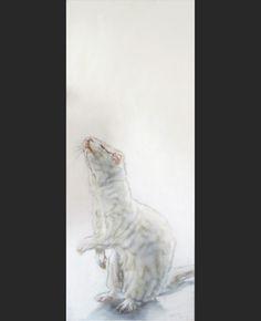 Ferret painting, 100x40 cm.