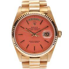 on bklyncontessa ::  via fourtane :: rolex original pink stella dial gold watch :: circa 1980s: