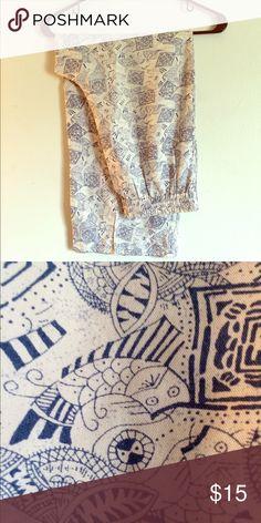 Soft Cat Lounge Pants Soft 100% silk pants with blue cat detailing. Perfect for summer! Pants Capris
