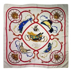 Hermes Springs Silk Scarf | From a collection of rare vintage scarves at https://www.1stdibs.com/fashion/accessories/scarves/