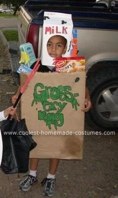 Gross-ary Bag: I made this gross-ary bag costume for my little boy and he loves it. It took some time and hard work but we got it just the way we wanted it. It was very
